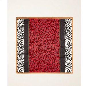 Ann Taylor cheetah print silk little scarf